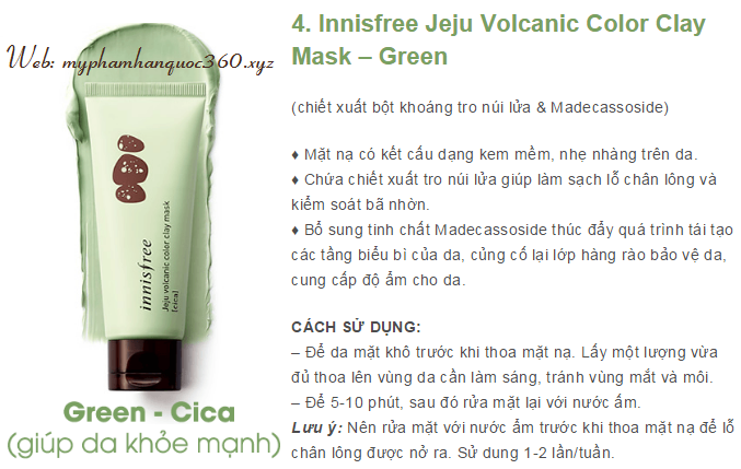 clay mask green