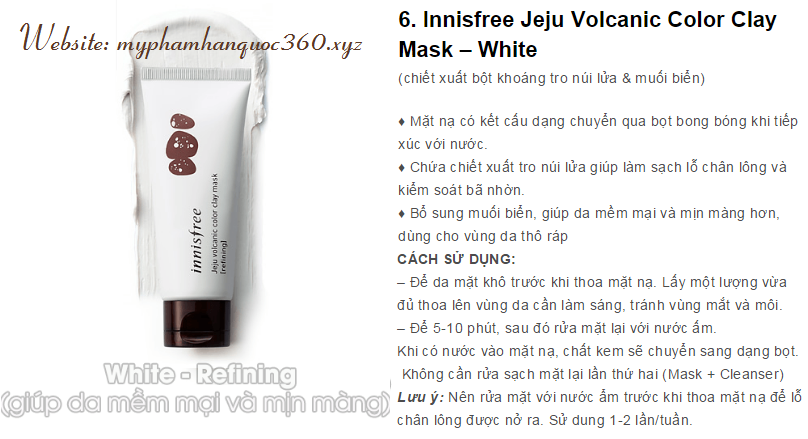 clay mask white