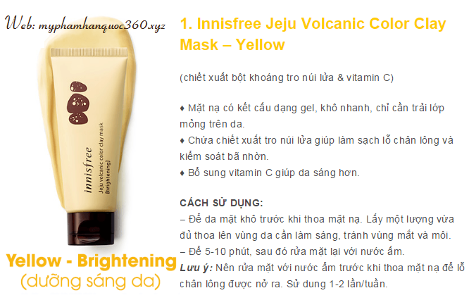 clay mask yellow